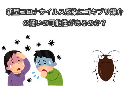 新型コロナウイルス感染にゴキブリ媒介の疑いの可能性があるのか?