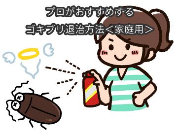 プロがおすすめするゴキブリ退治の方法<家庭用>